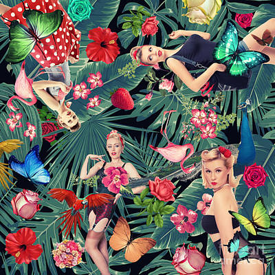 Tropical Fun Sexy  Art Print by Mark Ashkenazi