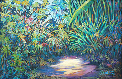Painting - Tropical Garden by Glenford John