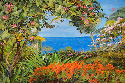 Painting - Tropical Garden Of Maui by Judith Barath