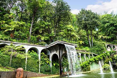 Photograph - Tropical Gardens Waterfall by Brenda Kean