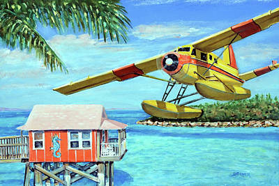 Painting - Tropical Getaway by Chris Dreher
