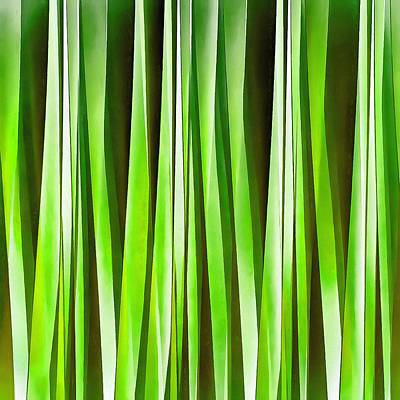 Digital Art - Tropical Green Riverweed by Tracey Harrington-Simpson