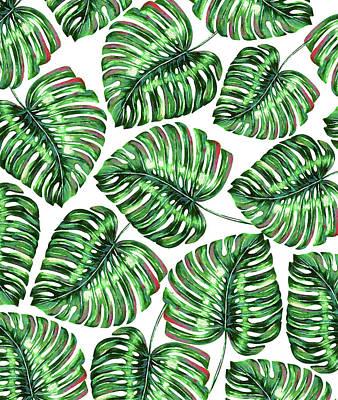 Digital Art - Tropical Greenery by Uma Gokhale