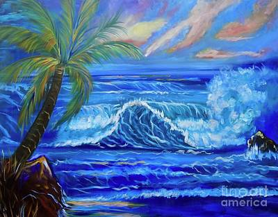 Painting - Tropical Hawaiian Sunset Discount by Jenny Lee