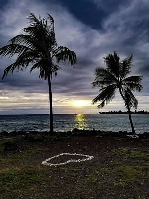 Art Print featuring the photograph Tropical Hawaiian Sunset by Pamela Walton