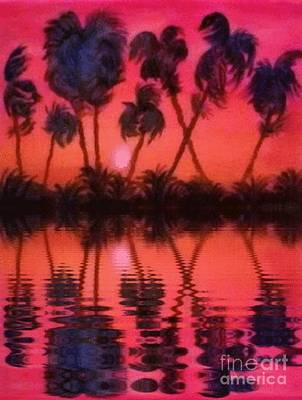 Tropical Heat Wave Art Print by Holly Martinson