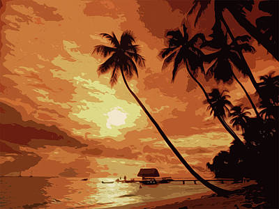 Painting - Tropical Heaven by Andrea Mazzocchetti