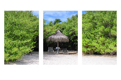 Photograph - Tropical Hideaway Triptych by Jenny Rainbow