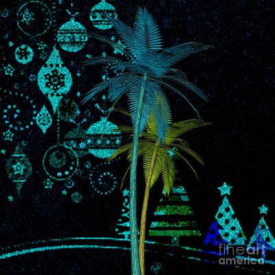 Digital Art - Tropical Holiday Blue by Megan Dirsa-DuBois