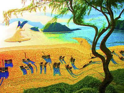 Abstract Beach Landscape Digital Art - Tropical Holiday by John Brennan