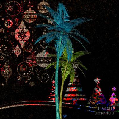 Digital Art - Tropical Holiday Red by Megan Dirsa-DuBois