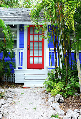 Painting - Tropical Home Photography - The Red Door - Sharon Cummings by Sharon Cummings