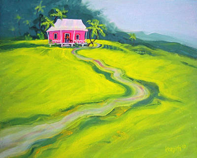 Painting - Tropical House - Pink Paradise by Rebecca Korpita
