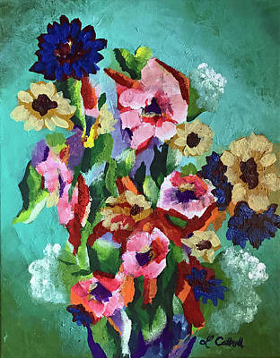 Painting - Tropical Impression by Laura Cottrell