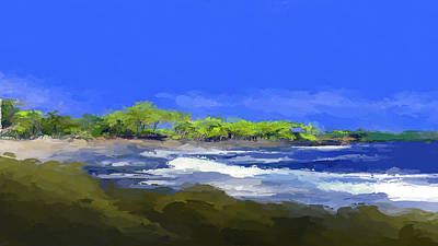 Mixed Media - Tropical Island Coast by Anthony Fishburne