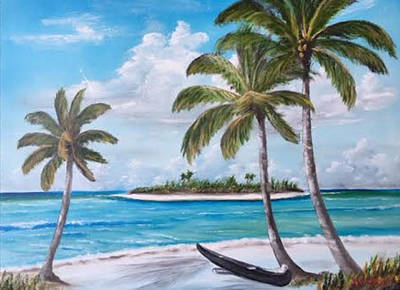 Painting - Tropical Island by Lloyd Dobson