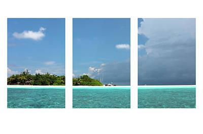 Photograph - Tropical Island Triptych by Jenny Rainbow