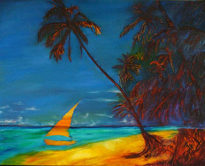 Puerto Rico Painting - Tropical Islands by Gregory Allen Page