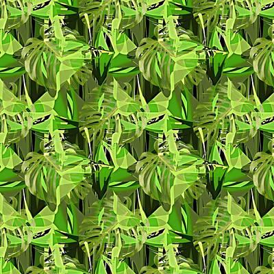 Banana Mixed Media - Tropical Jungle Greens by Gravityx9 Designs