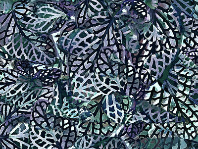 Painting - Tropical Jungle Leaves Mosaic Pattern by Menega Sabidussi