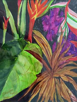 Painting - Tropical Leaf by Charme Curtin
