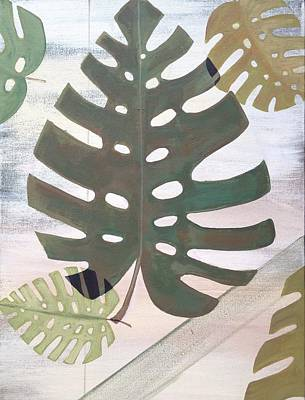 Tropical Plant Painting - Tropical Leaf by Laura Parrish