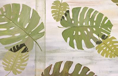 Painting - Tropical Leaves  by Laura Parrish