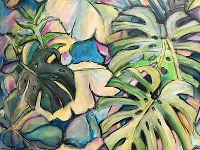 Painting - Tropical Leaves by Denice Palanuk Wilson