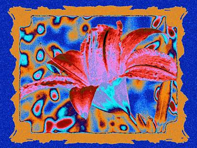 Digital Art - Tropical Lily 2 by Will Borden