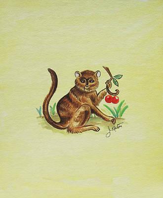 Painting - Tropical Monkey 1 by John Keaton