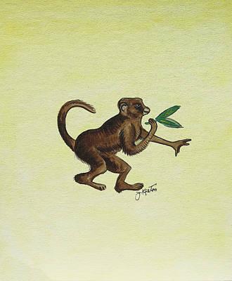 Painting - Tropical Monkey 2 by John Keaton