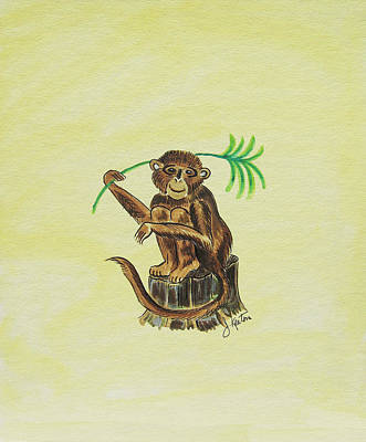 Tropical Monkey 3 Art Print by John Keaton