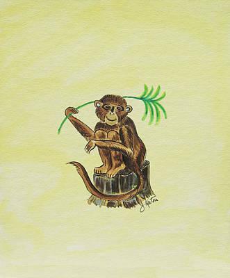 Painting - Tropical Monkey 3 by John Keaton