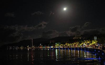 Photograph - Tropical Moon by Jocelyn Kahawai