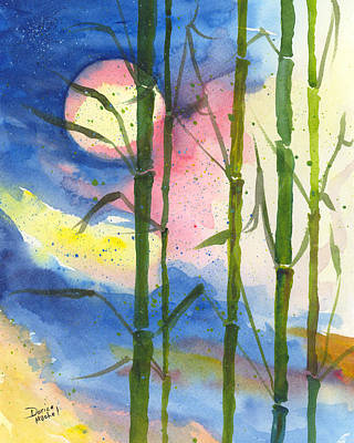 Painting - Tropical Moonlight And Bamboo by Darice Machel McGuire