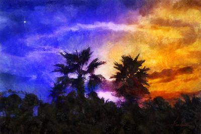 Tropical Night Fall Art Print by Francesa Miller