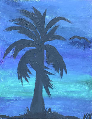 Painting - Tropical Night by Karen Nicholson