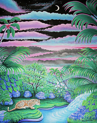 Painting - Tropical Night by Tracy Dennison
