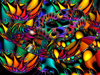 Multicolored Digital Art - Tropical Nights by Robert Orinski