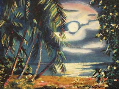 Suzanne Marie Leclair Painting - Tropical Nights by Suzanne  Marie Leclair