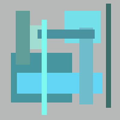 Digital Art - Tropical Oceans Square Abstract by Kathy K McClellan