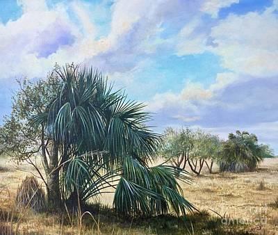 Tropical Orange Grove Art Print by AnnaJo Vahle