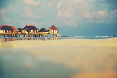 Tropical Overwater Bungalow Resort Maldives Art Print