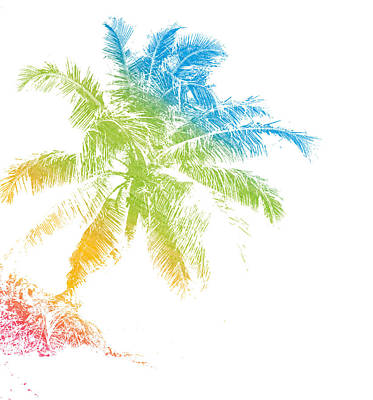 Mixed Media - Tropical Palm by Anthony Fishburne