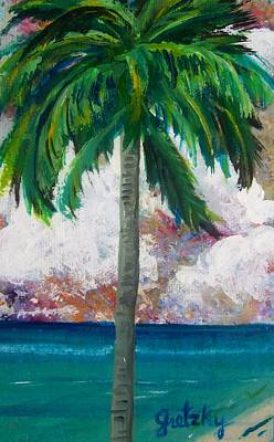 Gretzky Painting - Tropical Palm by Paintings by Gretzky