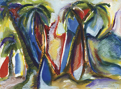 Painting - Tropical Palm Rhumba by Kerryn Madsen Pietsch