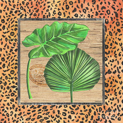 Cheetah Mixed Media - Tropical Palms 1 by Debbie DeWitt