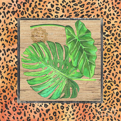 Cheetah Mixed Media - Tropical Palms 2 by Debbie DeWitt
