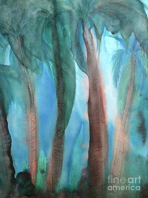 Painting - Tropical Palms by Karen Nicholson