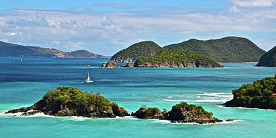Photograph - Tropical Panorama by Frozen in Time Fine Art Photography